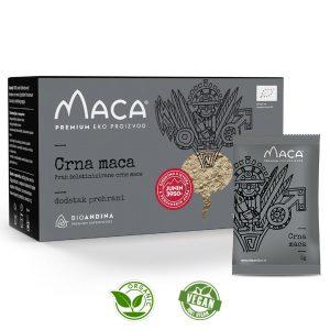 Crna aktivirana Maca prah – kutija 150g (30x5g)