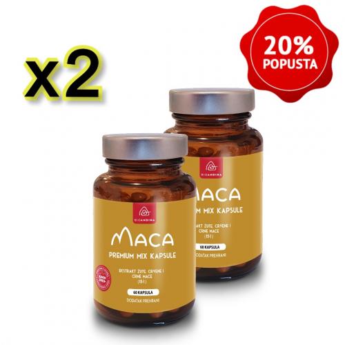 Premium MIX Maca kapsule (3500mg) – paket 2x