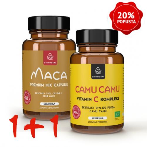 Premium MIX Maca kapsule (3500mg) + Camu Camu kapsule