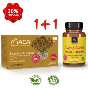 Premium MIX aktivirana Maca prah  + Camu Camu BIO kapsule