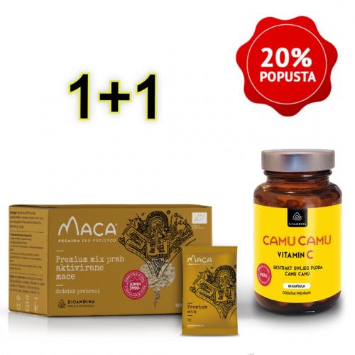 Premium MIX aktivirana Maca prah  + Camu Camu kapsule